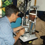 Patient examination in the clinic