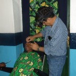 Patient examination with indirect