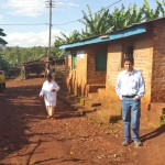 Dr Raj in Kibuye village that surrounds the hospital
