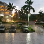 Pouring rain in Belize City