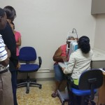 Conducting a diabetic screening exercise