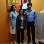 Dr Raj Agrawal with some of the other staff of the Eye Clinic