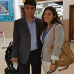 Dr Raj with Ms Carla Musa at the airport