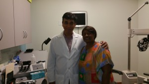 Dr Agrawal with a patient