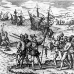 Columbus landing in Haiti