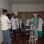 Discussion about the patients in the clinic