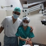 Dr Agrawal with the anesthetist